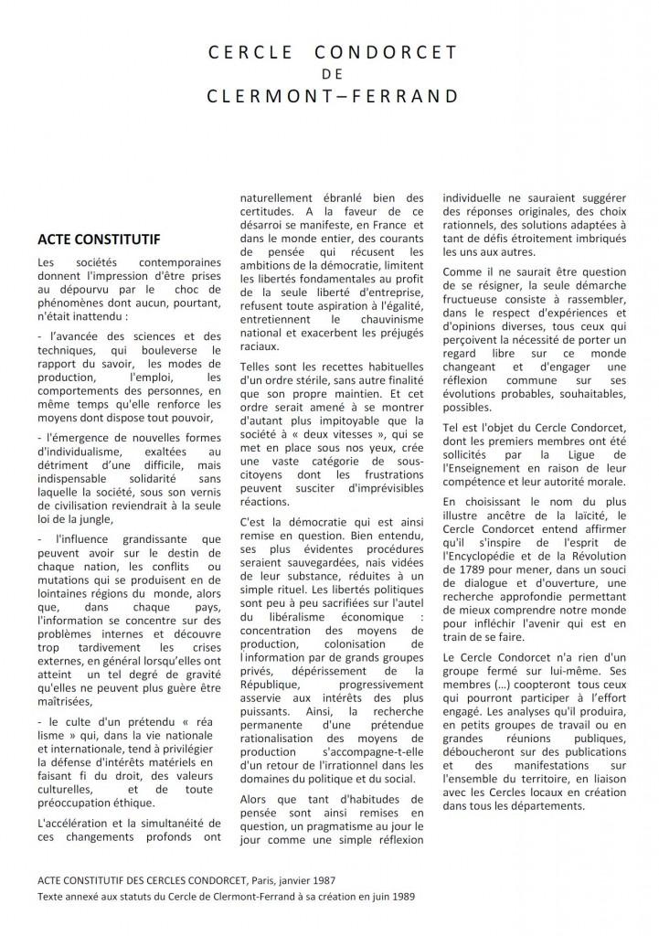 Charte du Cercle Condorcet
