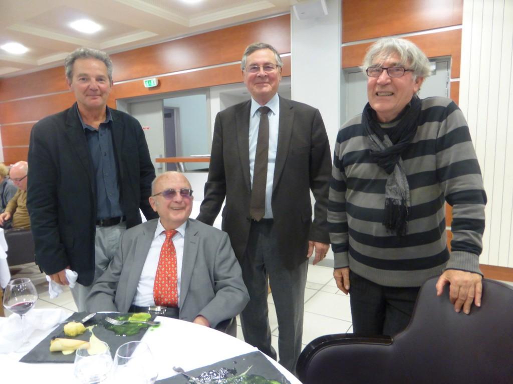 Pierre Miele, Jean Ehrard, Gérard Chanel, Alain Bandiéra